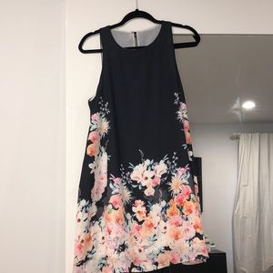 Beautiful black dress with flower detailing